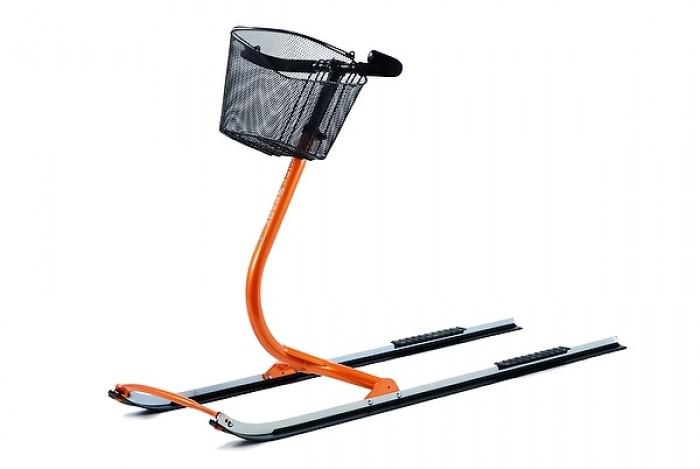 sněhoběžka s košíkem