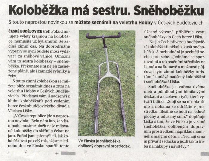 Článek z MfDNES z 16.10.2010