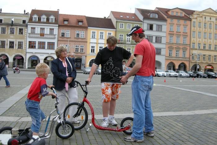 Spokojený zákazník po koupi Kickbike Freeride