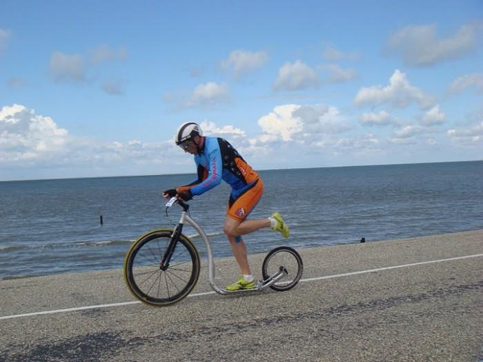 Richard první den ve sprintu - ještě za slunečného počasí