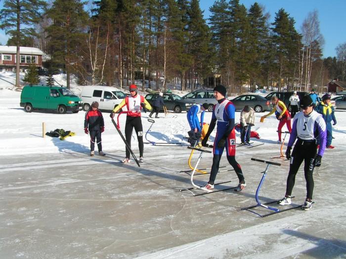 Startovní čára závodu na 200m ve Finské Multii