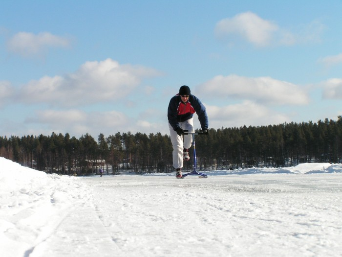 Pan Liška na zamrzlém jezeře