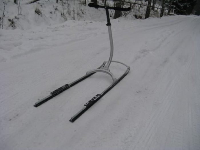 První svezení na sněhoběžce...