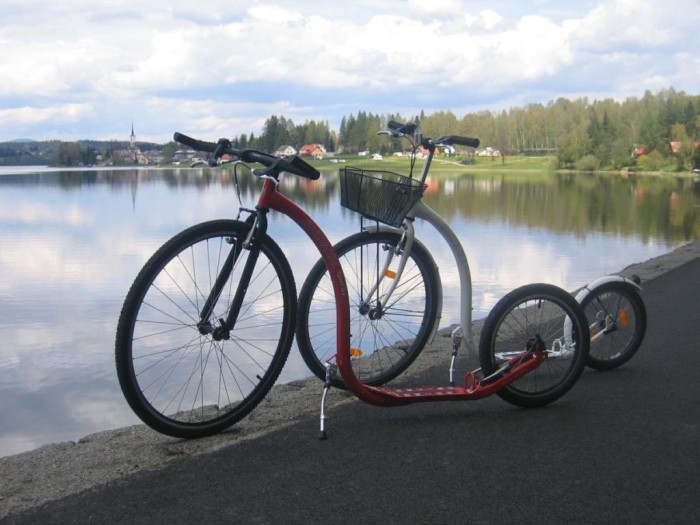 Takovýto pohled se Vám naskytne na Frymburk z loni otevřené cyklostezky mezi Frymburkem a Lipnem nad Vltavou