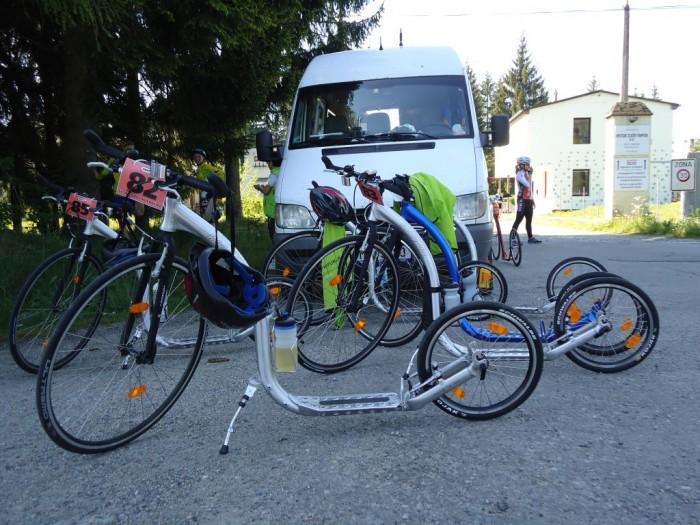 Stroje mladých koloběžkářů - Kickbike Race