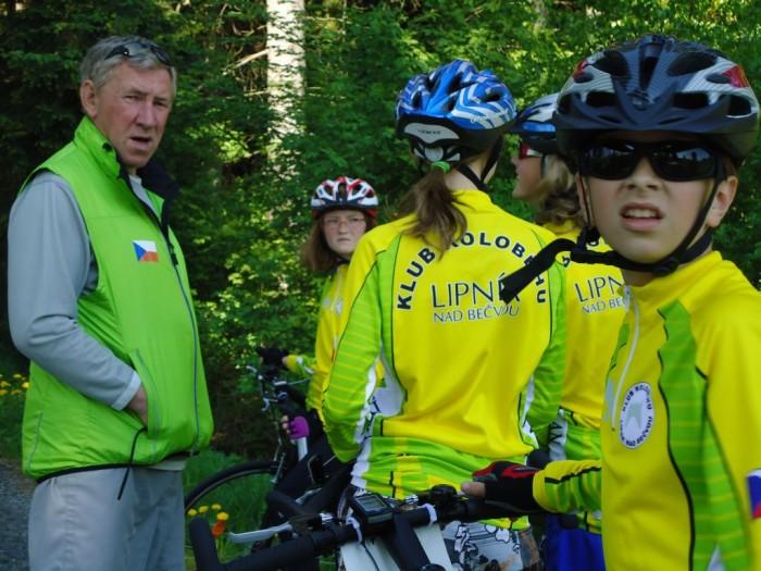 Ss trenérem před startem nedělní časovky na Šumavě 22.5.2011