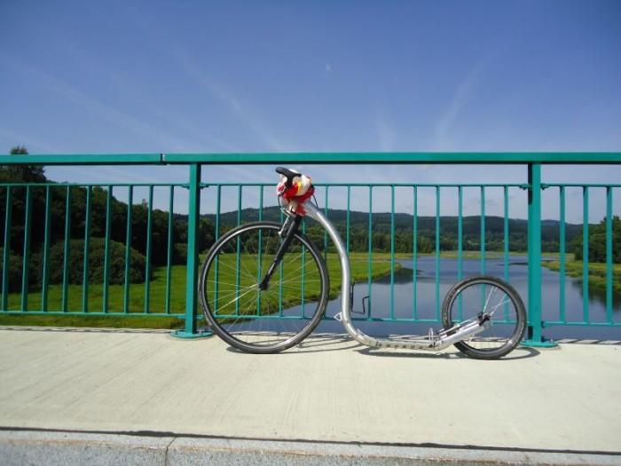 most v Nové Peci a Kickbike Race v létě...