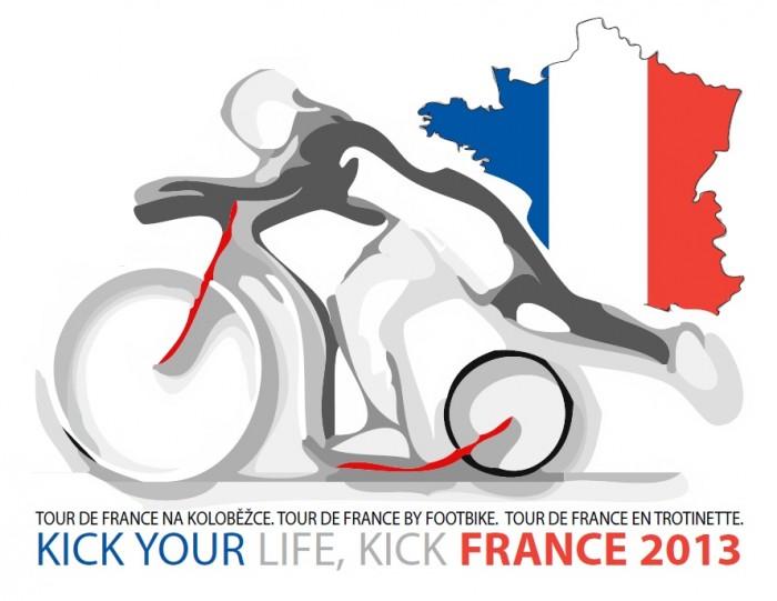 Kick Your Life. Kick France 2013 - Tour de France na koloběžce - projekt spuštěn