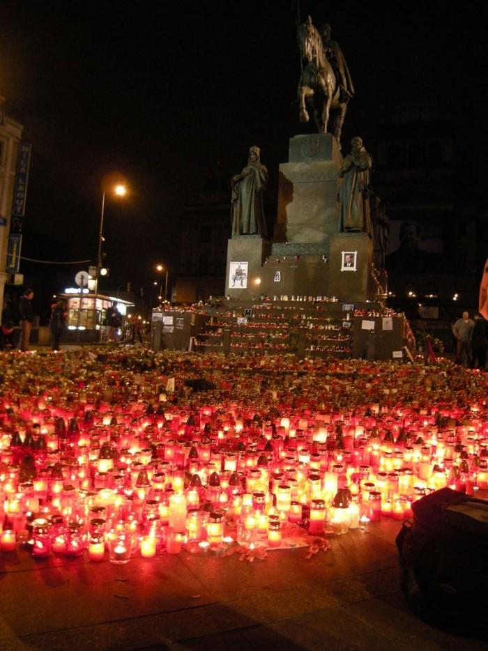 Poslední zastávka pod Václavem na Václavském náměstí