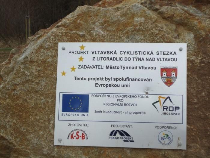 Nová cyklostezka Litoradlice - Týn n/Vlt. ve výstavbě
