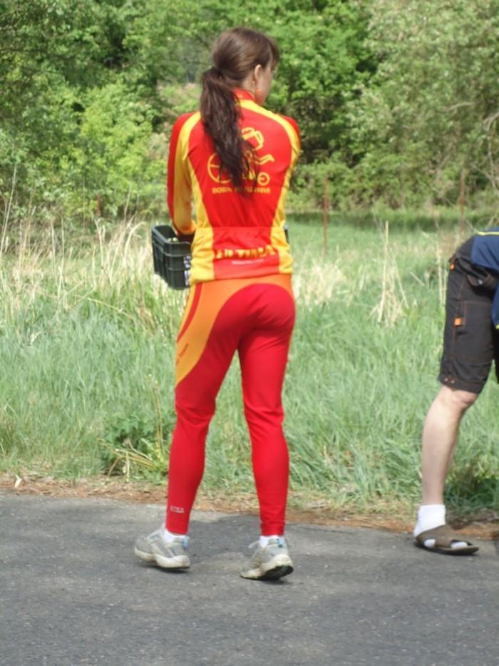 Lucka Gazárková - přijela na časovku, využila únavu všech závodnic ze sobotního dlouhého závodu a zvítězila!!!