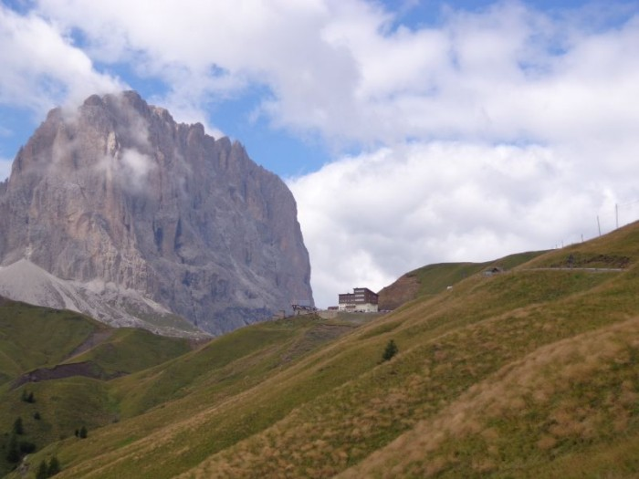 Pohled k Passo Sella