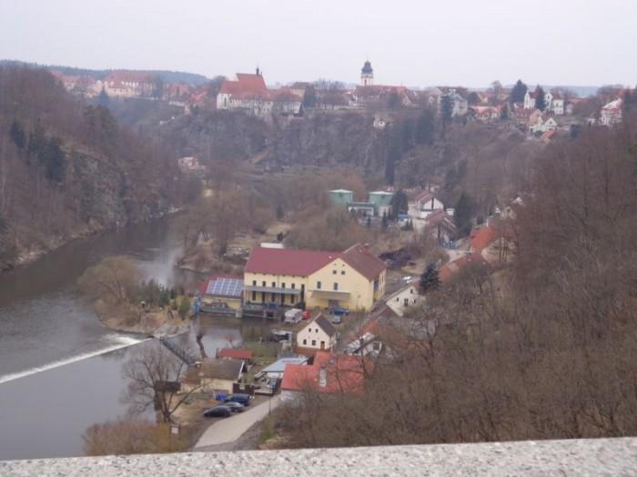 Pohled z bechyňského mostu