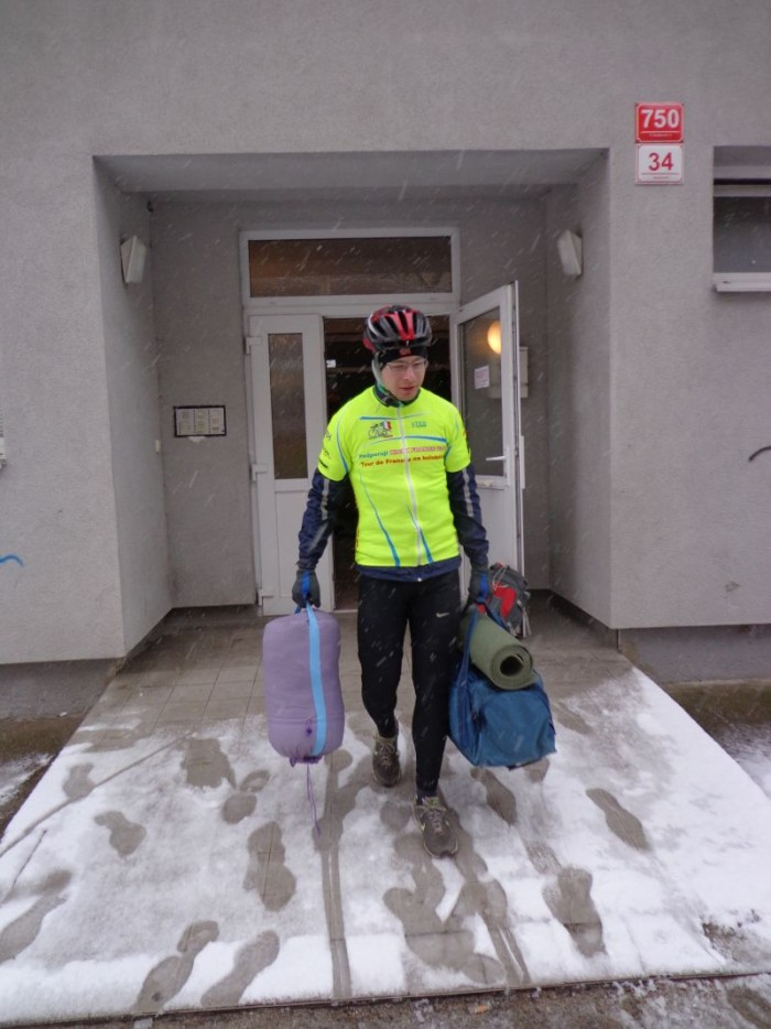 České Budějovice, 31.3. v 7.30 a sníh