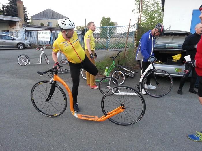 Hannu Vierikko, majitel Kickbike a jeho nový prototyp