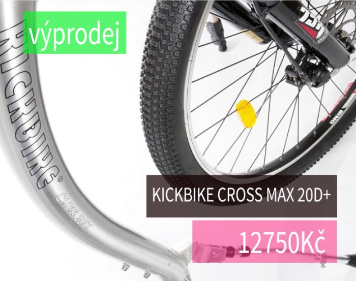 Vyšší model terénní koloběžky Kickbike Cross MAX 20D+